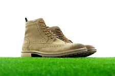 New Mens Superdry Brad Brogue Stamford Leather Boots Shoes Tan Leather Premium