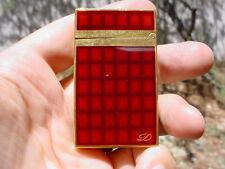"S.T. Dupont ""Vertigo"" Briquet Montparnasse Lighter, Gold, Red/Brown Lacquer."