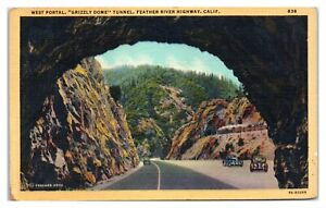West Portal, Grizzly Dome Tunnel, Feather River Highway, CA Postcard *6V(2)26
