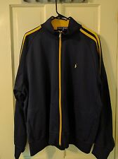 Men's Polo Sport Track Jacket, Blue/Yellow, XXL