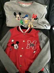 Disney Red Jacket & Grey Top Size Small