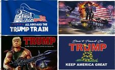 3' x 5' Printed Trump Flag - Make / Keep America Great Again MAGA - 2020 Train