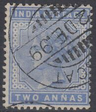 1899 India used in Muscat Oman, 2a blue SG# Z25 [sr3281]
