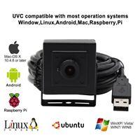 ELP 5.0MP CMOS machine vision surveillance mini black camera usb with 3.6mm lens