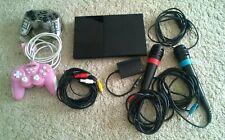Sony PlayStation 2 Slim mit 2 Singstar Mikrofone & 2 Controllern