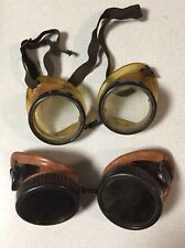 Rare Two Pair Of  Willson Goggles Steampunk Retro Motorcycle sunglasses