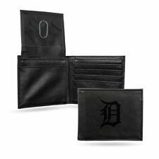 Detroit Tigers MLB Laser Engraved Black Billfold Wallet