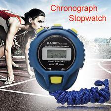 LCD Chronographe Digital Sport Minuteur Chronomètre stop Sport Counter Odomètre