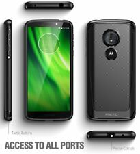 For Moto G6 Play Case Black Poetic【Karbon Shield Series】Slim Fit TPU Grip Cover