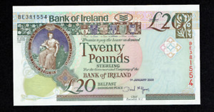 RARE 2003 BANK OF IRELAND 20 POUNDS BANKNOTE BELFAST NORTHERN IRISH RARE UK