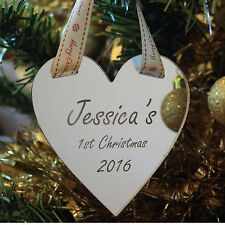 My First Christmas Mirror Heart Wall Christmas Tree or Fireplace Decoration