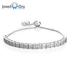 New Cubic Zirconia Tennis Bracelets Square Adjustable Bracelets For Women