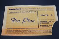 Altes Konzertticket - Der Plan - Theaterfabrik Unterföhring - 22.9.1987