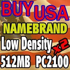 1GB Kit LOT 512 512MB x 2 PC2100 2100 266MHZ Ram MEMORY desktop ddr Low Den