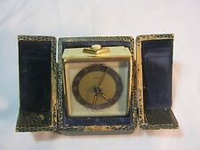 KAISER GERMAN VINTAGE ART DECO ALARM CLOCK WITH CASE  AS IS NOT WORKING      T*