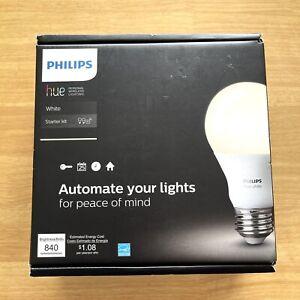 Phillips HUE A19 Starter Kit - White 2 Bulbs NEW Open Box