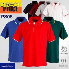 Poly/Cotton Contrast Pique Short Sleeve Polo Shirts Work Gym Club Team Uniforms