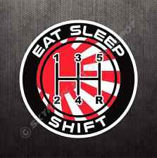Eat Sleep Shift Sticker Vinyl Decal Shift Knob Rising Sun Flag JDM Car Sticker