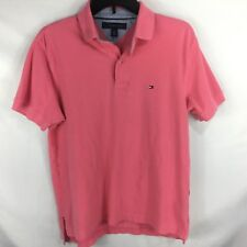 TOMMY HILFIGER Pink Short Sleeve Collared Polo / Rugby Shirt size S Mens