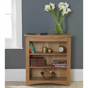 Crescent solid oak furniture small living room office bookcase