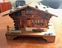 Vintage LADOR Swiss Musical Movement Cabin House Music Box Edelweiss