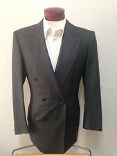 G347 Kiton Gray Double Breasted Wool Cashmere Blend Suit 40R Pants 32x30