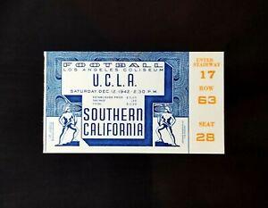 1942 UCLA Bruins vs USC Trojans College Football Ticket L.A Coliseum EX-EXMT