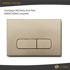 CHAMPAGNE ABS FLUSH PLATE, GEBERIT SIGMA COMPATIBLE SMALL SQUARE BUTTONS