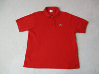 Lacoste Polo Shirt Adult Large Size 6 Red Green Crocodile Rugby Casual Mens H*