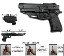 Rogue River Tactical Black Holster Pistol Gun Spring Assisted Pocket Knife