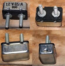 12V 15A 2 Terminal Circuit Breaker / Fuse #398 Automotive Motorcycle application