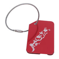 Floral Pattern Luggage Tags Suitcase Label Name Address ID Bag Baggage Tag G