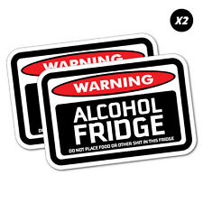 2X Warning Alcohol Fridge Sticker Funny Car Stickers Novelty Decals #5926E
