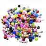 14G Belly Ring Assorted Lot of 100 Belly Button Rings Navel Banana Piercing AD