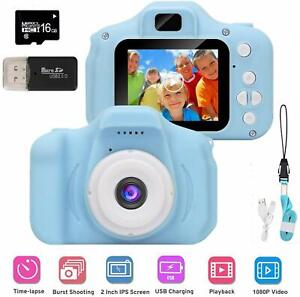 Kids mini Digital Camera with 1080P HD Video Recording 16GB MicroSD Card & More