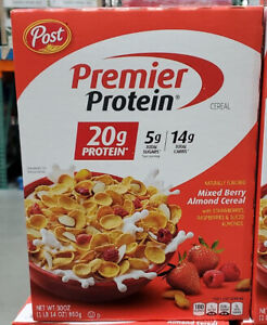 Post Premier Protein Mixed Berry Almond Cereal 30 Ounce Kosher FREE SHIPPING !!