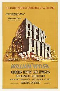 Ben-Hur 1959 Retro Movie Poster A0-A1-A2-A3-A4-A5-A6-MAXI 247