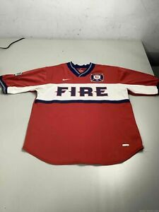 Men's Nike MLS Chicago Fire Red Jersey Size S, Made in USA