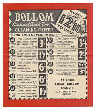 FROME Bollom Dry Cleaners Stoney Street Advertising Leaflet c1960