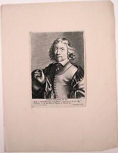 Gravure de Meyssens, Autoportrait de Pierre Danckerse
