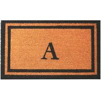 "Personalized / Monogrammed 18"" x 30"" Natural Coco Coir Welcome Outdoor Doormat"