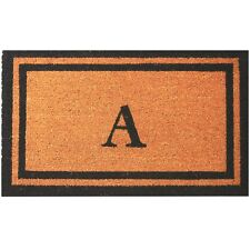 """Personalized / Monogrammed 18"""" x 30"""" Natural Coco Coir Welcome Outdoor Doormat"""