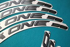 CAMPAGNOLO BORA ONE 50 DARK 3D DESIGN REPLACEMENT RIM DECAL SET FOR 2 RIMS