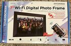 "Sylvania 7"" Wi-Fi Digital Photo Frame Touchscreen SDPF7095 High Res - New"