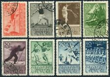 Russia 698-705,CTO.Michel 657-664. Sport in USSR,1938.Diving,Discus,Tennis,Skier