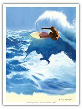 Chunks - Surfer On Wave - Wade Koniakowsky - Original Surf Art Print