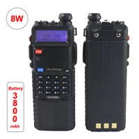 Baofeng UV-5R 8W Walkie Talkie 3800mAh FM Radio 144/430MHz Dual band 2 way Radio