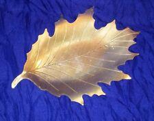 "Vintage Gold Tone Oak Leaf Keepsake Trinket Tray Dish Neocraft by Everlast 8"""