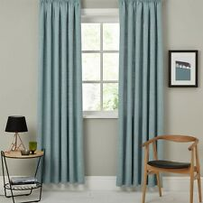 JOHN LEWIS Linen Blend Pencil Pleat Curtains -Duck Egg-  228 X 228 Rrp £150