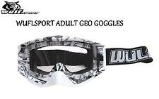 Wulfsport Adult MX Motorcross Geo Anti Scratch Lens Quad Bike Goggles White T